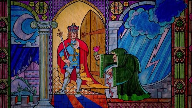 A propósito... Que tipo de príncipe abre PESSOALMENTE as portas do seu palácio toda vez que alguém chama nas horas mais impróprias pedindo abrigo?