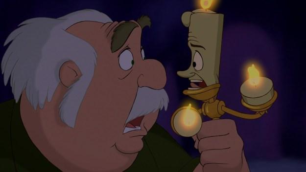 Por que o Lumière nunca derrete? Seu rosto é feito de cera.