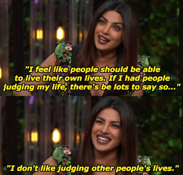 When she revealed why she never judges other people.