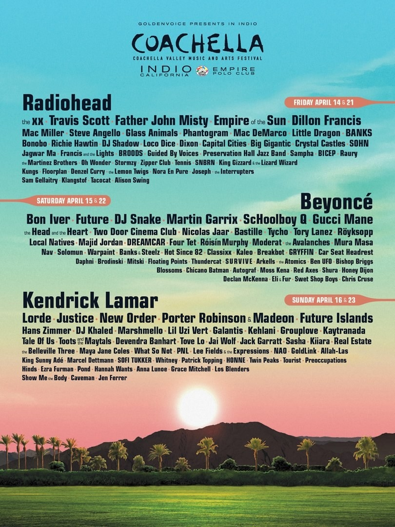 Coachella just announced their lineup and is already proving that 2017 is waaaaay better than 2016.