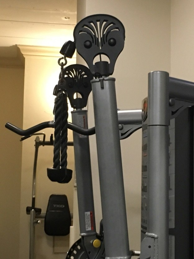 This gym equipment that's mad as hell.