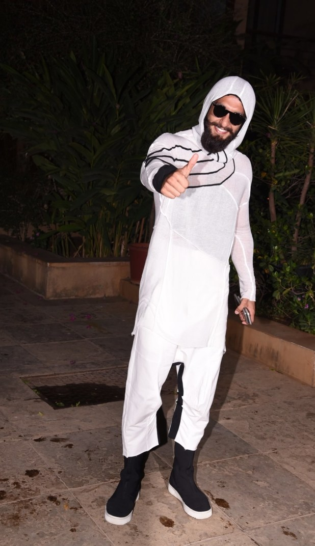 While Ranveer Singh showed up wearing well, this: