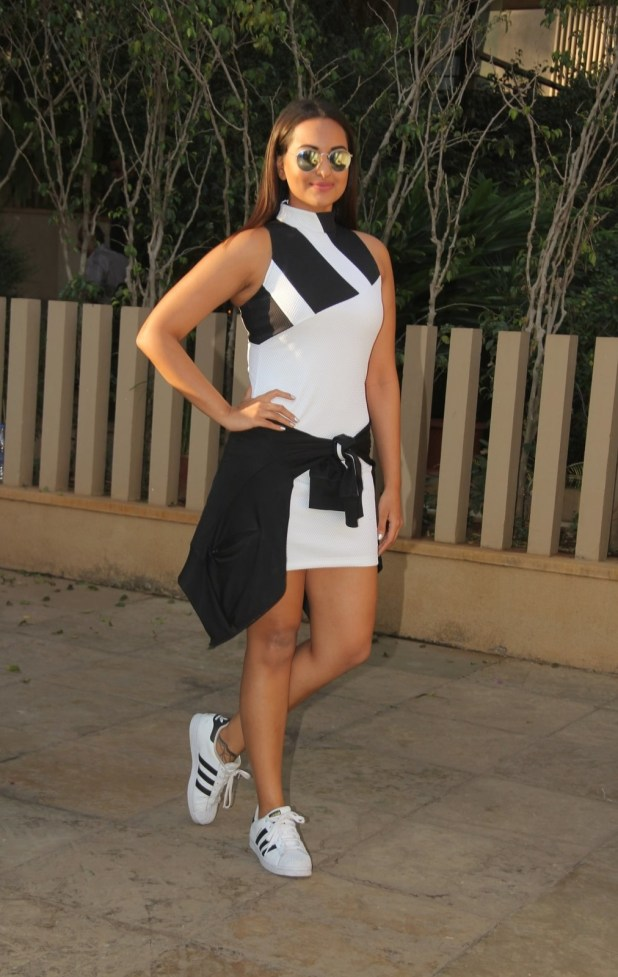 Sonakshi Sinha also showed up looking dope in athleisure.