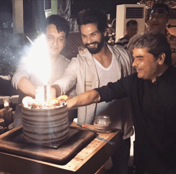 Last night, Shahid Kapoor celebrated his 35th birthday, five days in advance.