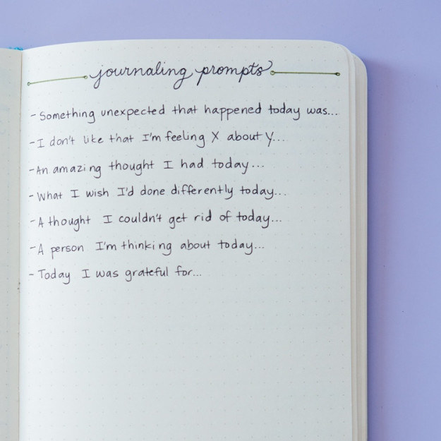 These journaling prompts to bring some self-reflection into your day: