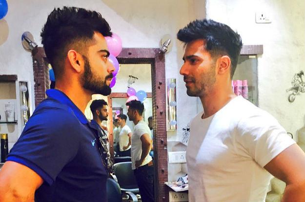 Varun Dhawan And Virat Kohli Got The Same Haircut And The