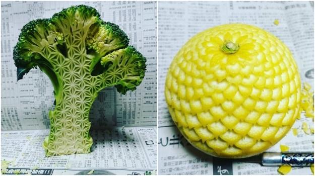 ずっと見入ってしまうような野菜やフルーツの彫刻(カービング)の写真を、Instagramに投稿しているアカウントがあります。