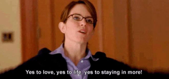 'Sim ao amor, sim à vida, sim a ficar mais em casa!'