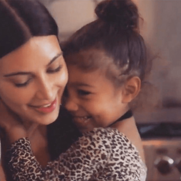 Kim and North shared a moment.