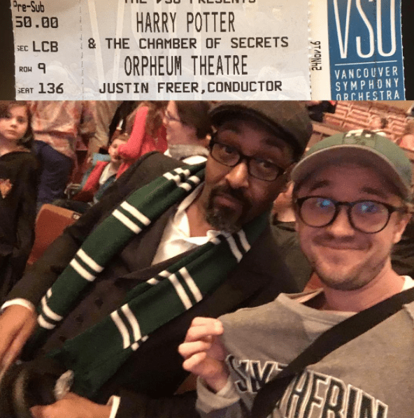 Tom Felton went to see Harry Potter in his Slytherin gear.