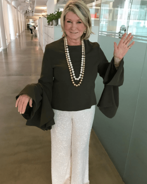 Martha Stewart had some big sleeves.