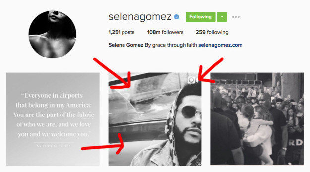 Prior to this photo, the only photo of them together that wasn't a pap shot was when Selena uploaded a photo of The Weeknd and promptly deleted it.