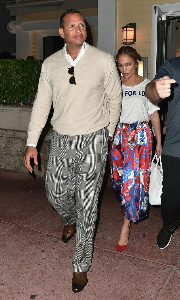 Here they are last night in Miami on a date night.