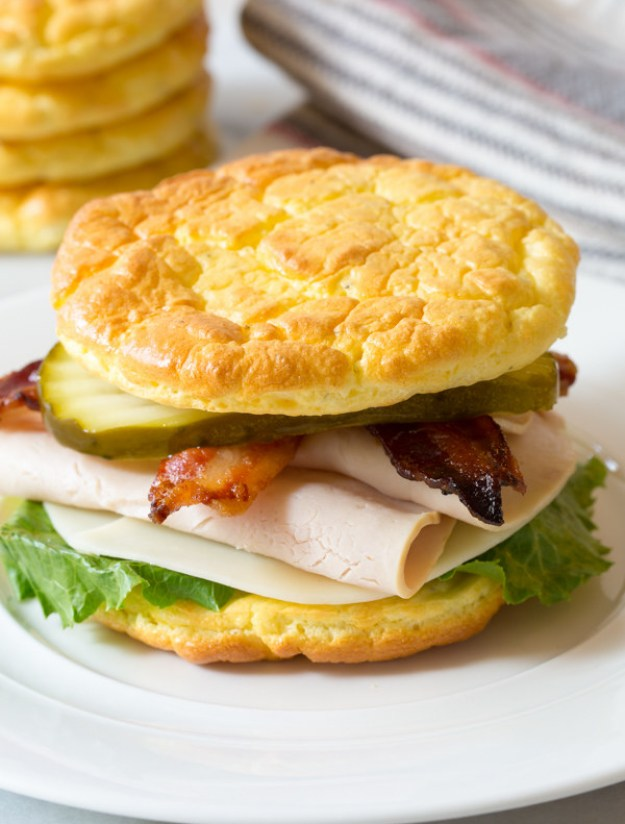 Cloud Bread Sandwiches