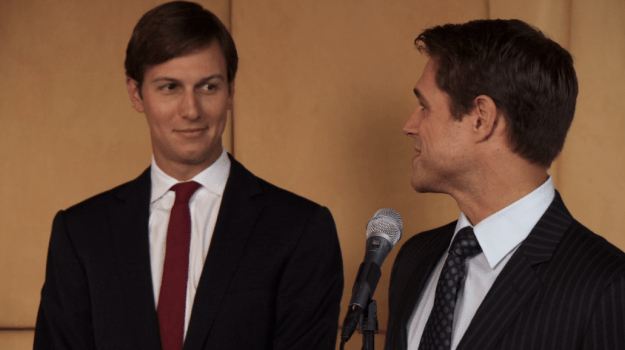 Yup, there's Jared Kushner presenting an award at a fictitious New York Observer party: