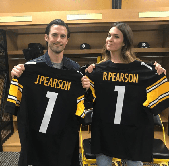 WELL. Prepare for your heart to explode because Mandy and Milo got their very own Steelers jerseys.