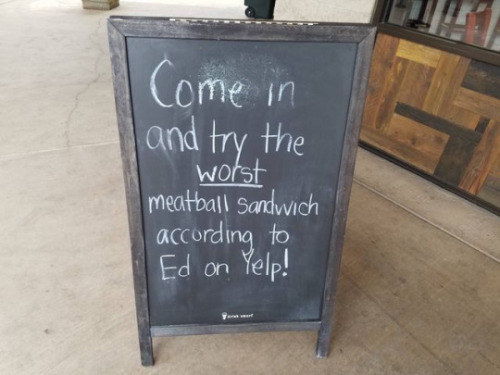 The sandwich shop that takes their Yelp reviews seriously: