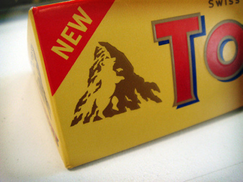 There's a hidden bear in the Toblerone logo.