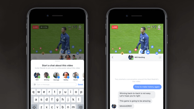 Now you can make a private chat with just friends on a public Live video.