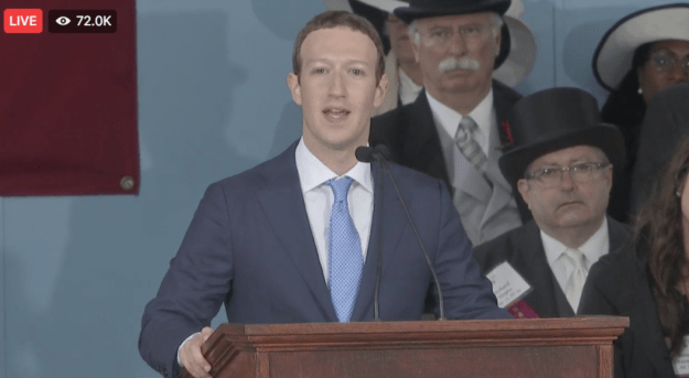 Today, Harvard's closed-captioning system apparently malfunctioned — just as Zuckerberg was giving his commencement speech at Harvard University.