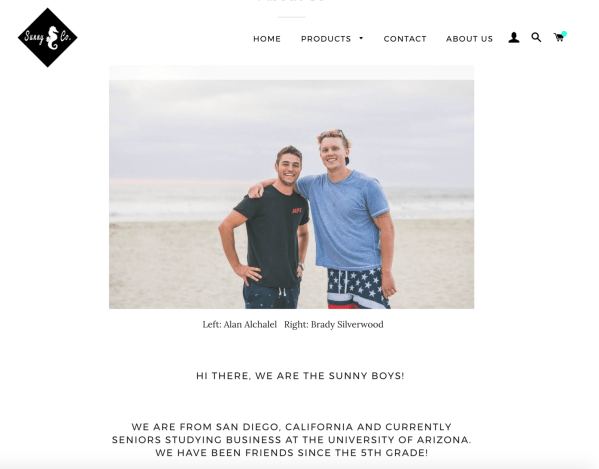 The company sells shirts, skirts, swimming costumes, and fanny packs.
