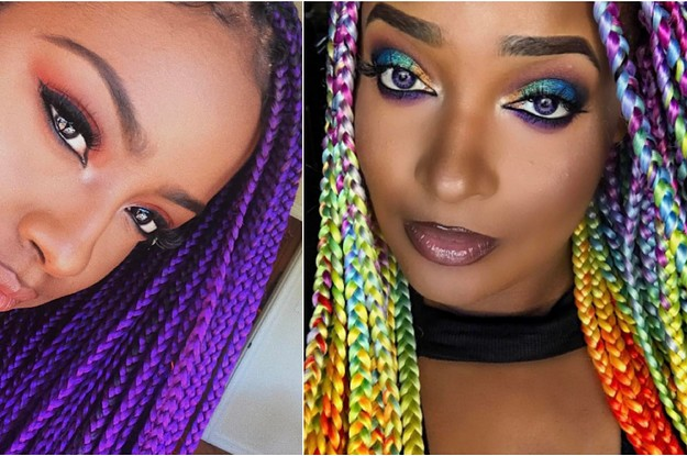 17 Colourful Box Braids You Should Definitely Try