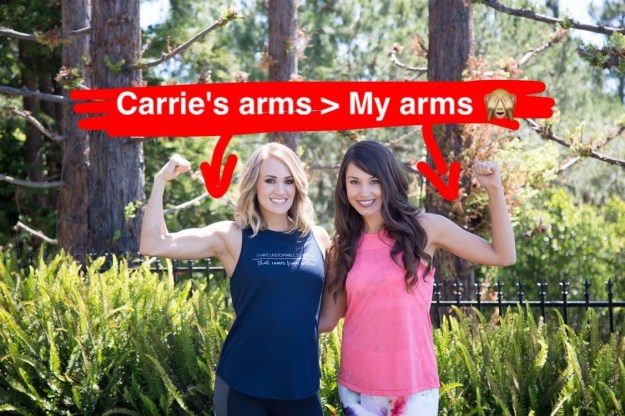 Everyone knows Carrie Underwood – Grammy award-winning country artist, leg goddess, the list goes on and on... and everyone does not know me, Krista Torres – a regular ol' BuzzFeed employee.