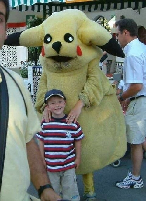 Even something as innocent as a Pikachu costume can turn into nightmare fuel.