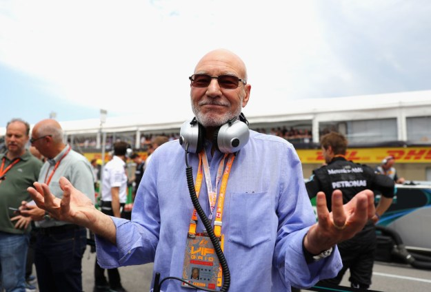 Sir Patrick Stewart attended the Canadian Grand Prix in Montreal at the weekend. And let's just say he got really into things.