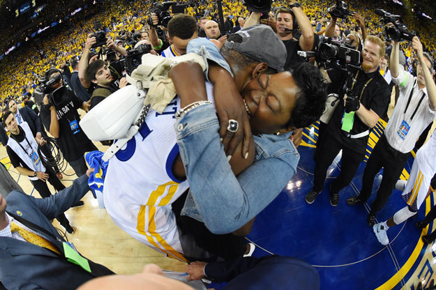 KD was named Finals MVP. But more importantly: look how happy his mom was!