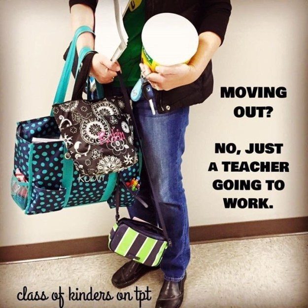 Then transport it all to class themselves.