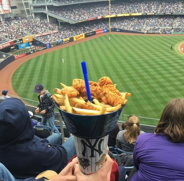 This chicken and fries combo with room for your straw.
