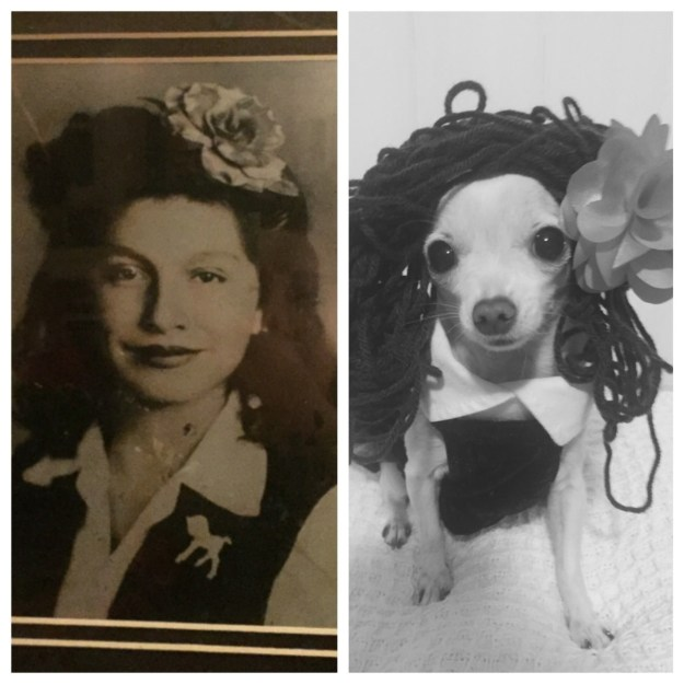 And this glam shot of her grandmother.