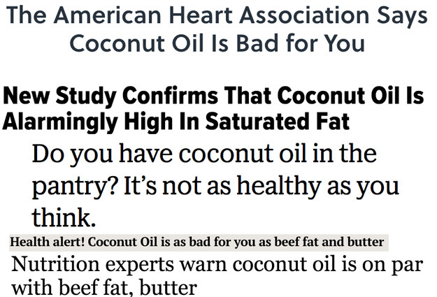 You've probably heard recently that coconut oil is actually bad for you.