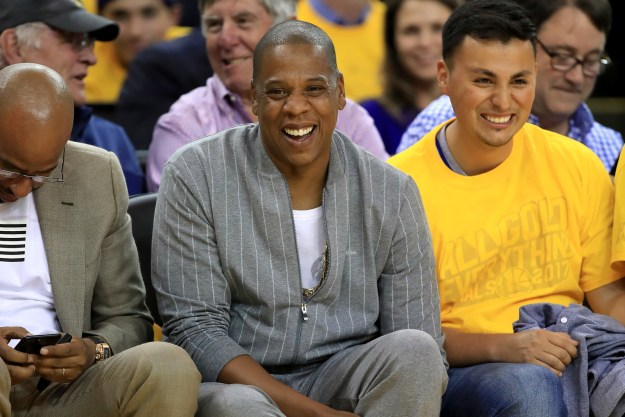 So last night was game one of the 2017 NBA finals, and sitting court side was the one and only Jay Z, who was having the time of his life — or so it seems.