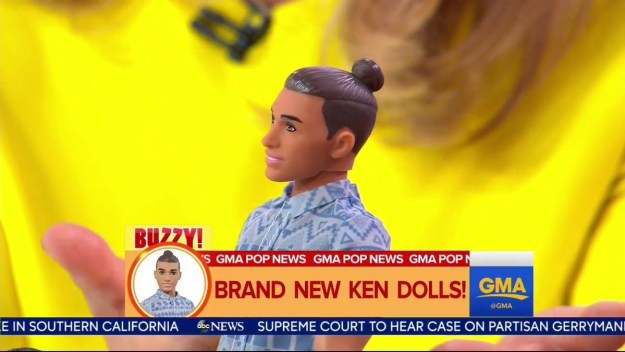 Mattel has released a new Ken doll that has a manbun. This is what manbun Ken is into.