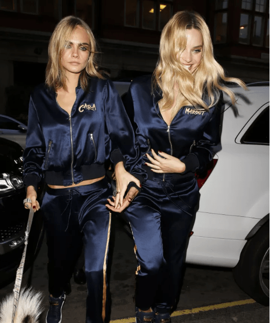They even went out in matching tracksuits and everything.