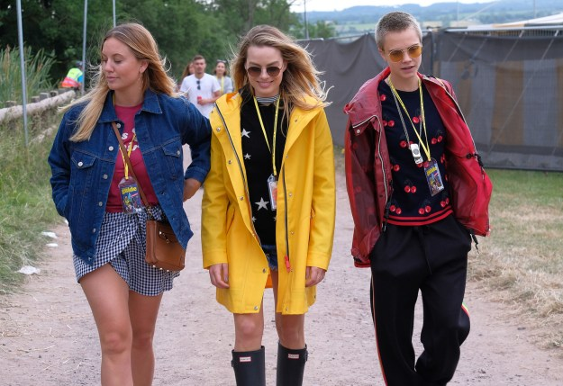 And I think it's safe to say that they're the coolest people at Glastonbury right now.