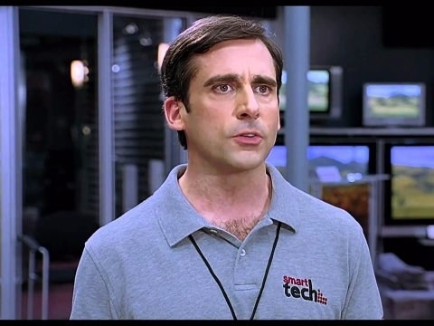 Or, when he was is in The 40-Year-Old Virgin and looked about the same, tbh, just in a polo.