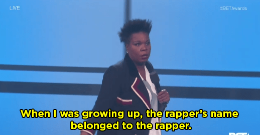 Her joke about today's rappers was hilarious. She started by saying when she was growing up, rappers' names matched the rapper.