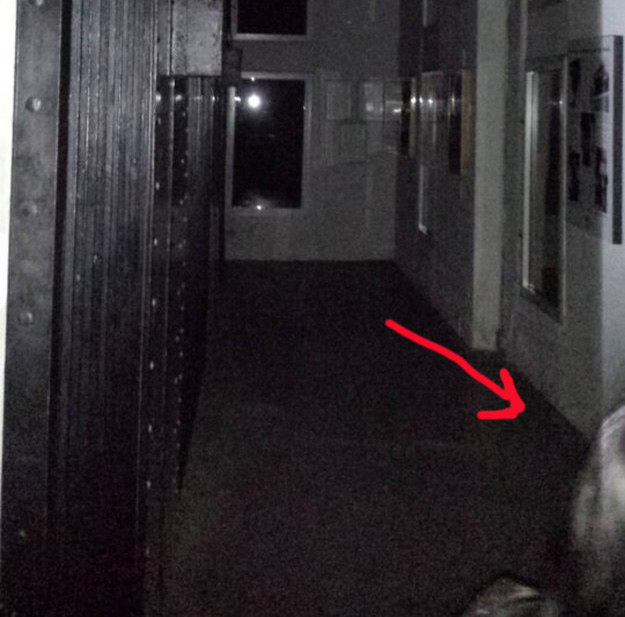 """""""This was taken in an old jail in St. Augustine, Florida. I set my camera to 'burst' mode, and what looks like half a face popped up in the bottom right corner of only one picture."""" —georgerizz"""