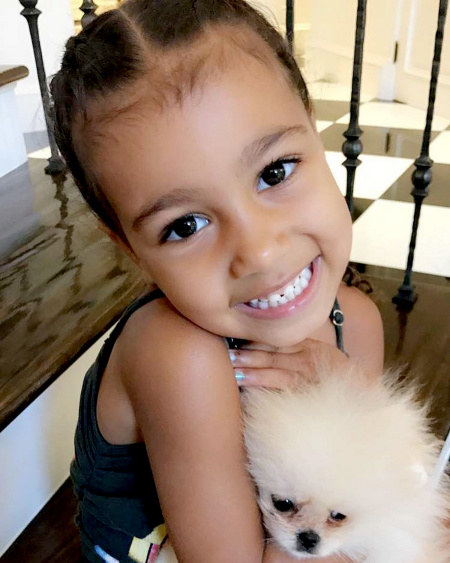 Queen North West celebrated her fourth birthday earlier this month and received the GIFT OF ALL GIFTS from Kim and Kanye — A PUPPY!