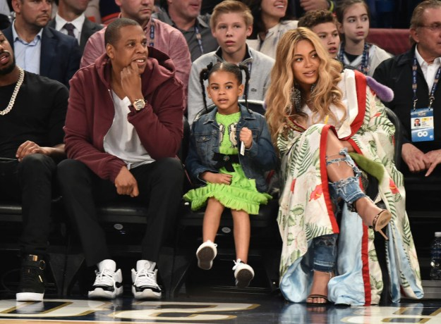 Jay-Z, Blue Ivy, and Beyoncé in 2017.