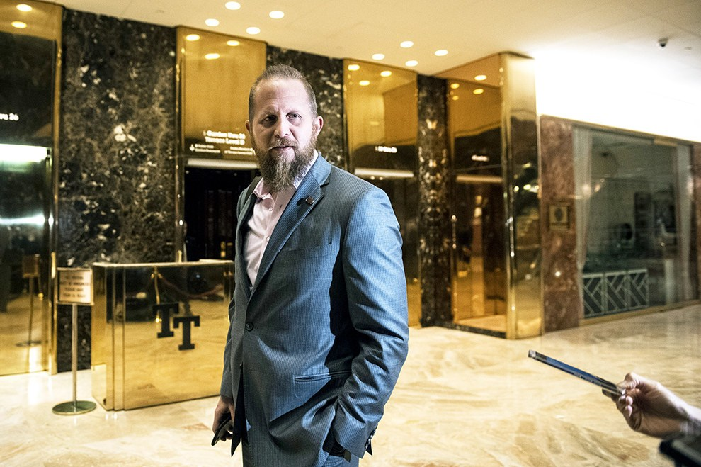 A photo of Trump Digital Strategist Brad Parscale in hotel lobby.