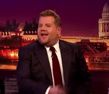 """Everyone's reaction was priceless. Corden's face was all like, """"Oh no she didn't just ask my guest that."""""""