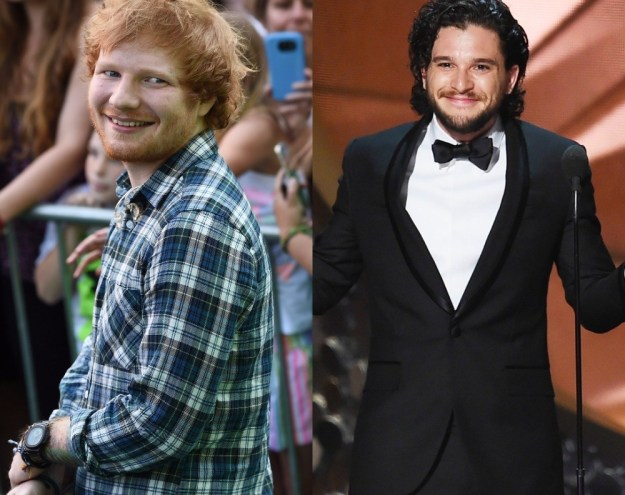 The Game of Thrones star opened up about the first time he met Ed Sheeran and it just so happened to be in the bathroom.