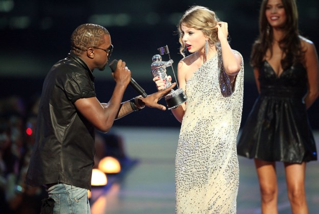 I know you probably don't, but remember that one time Kanye interrupted Taylor Swift at the 2009 MTV VMAs? Yeah, me neither! Not a big pop culture moment or anything! Nope!