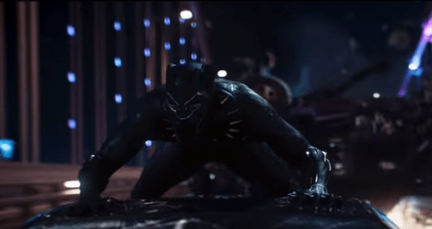 We saw Chadwick Boseman in action as the Black Panther.
