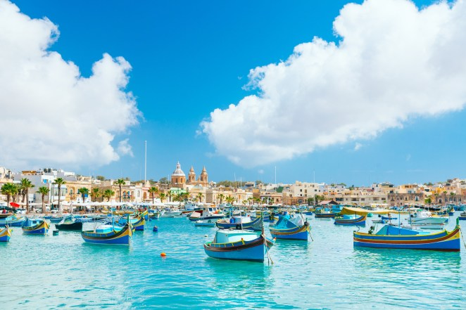 You'll find this small fishing village on Malta's southeast coast. The port is dotted with brightly painted fishing boats, bustling Sunday seafood markets, and restaurants serving the catch of the day.
