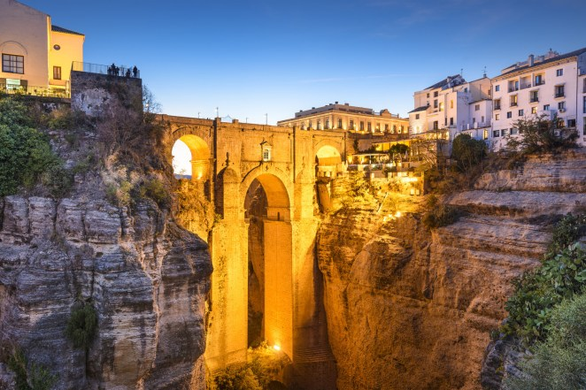 If you have a fear of heights, you might want to sit this one out. One of Spain's oldest towns, this Andalusían gem was first established in the 9th century BC. The new and old towns are connected by a bridge than spans the dramatic El Tajo gorge.